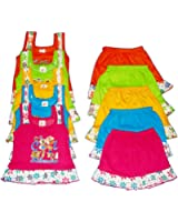 Apt Padhus Baby Girls Cotton Dress (Pack of 5) (PF044_Multicolor_12-18 Months)