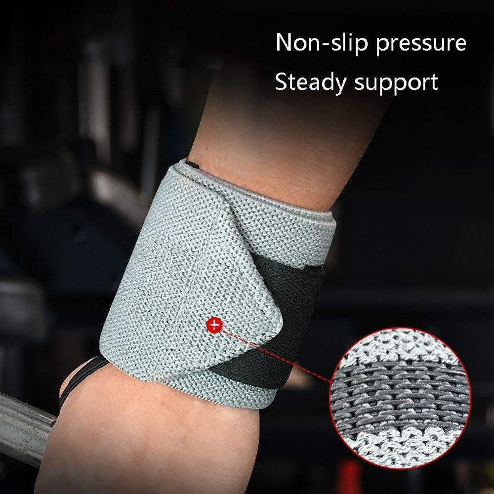 Easty Motion Bracers Set Anti-Ankle Boost Bandage Basketball Tennis Badminton Fitness Weightlifting Protection Wrist Protective Gear (Color : Gray)