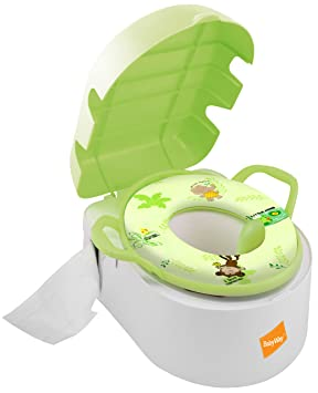 Babyway Deluxe Tot Pot/ Step Stool/ Padded Toilet Seat 3-in-1 ...