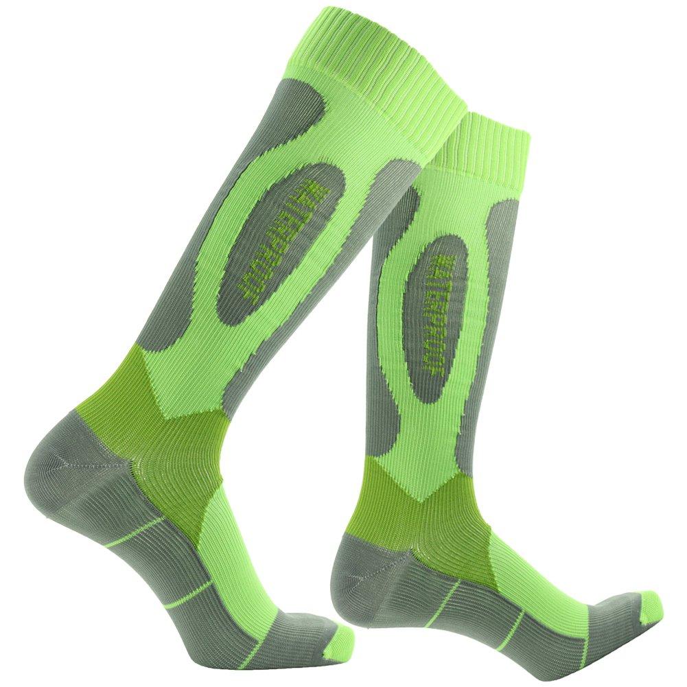 Waterproof Breathable Socks, Outdoor Socks, [SGS Certified]RANDY SUN Men's Designed Mountain Climbing Socks Green&Grey by RANDY SUN