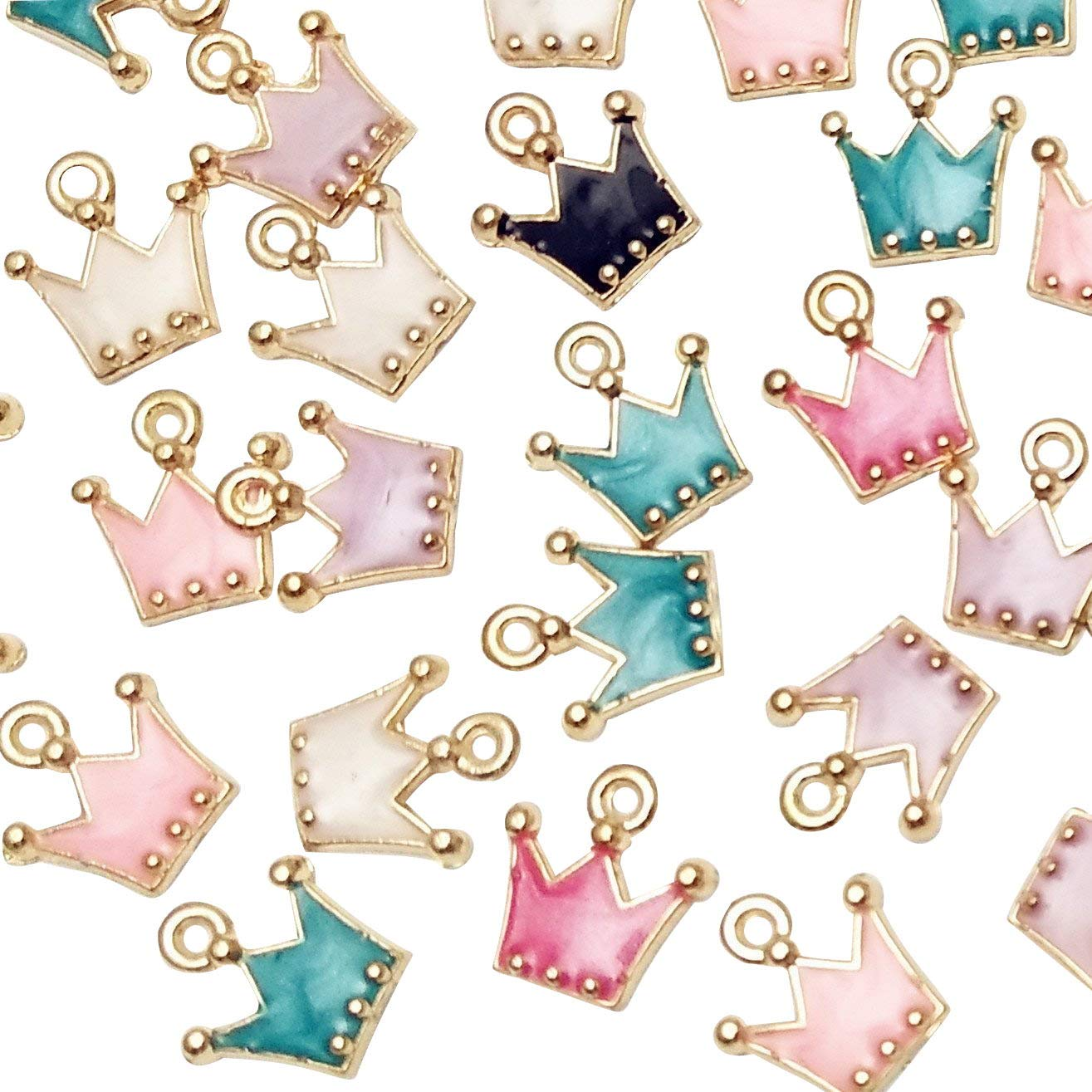 Dandan DIY 38pcs Christmas Pendant Charm for Necklace Bracelet Jewelry Making Clothes Sewing Bags Decoration Charm Diy Scrapbooking Supply (Christmas Styles 2)