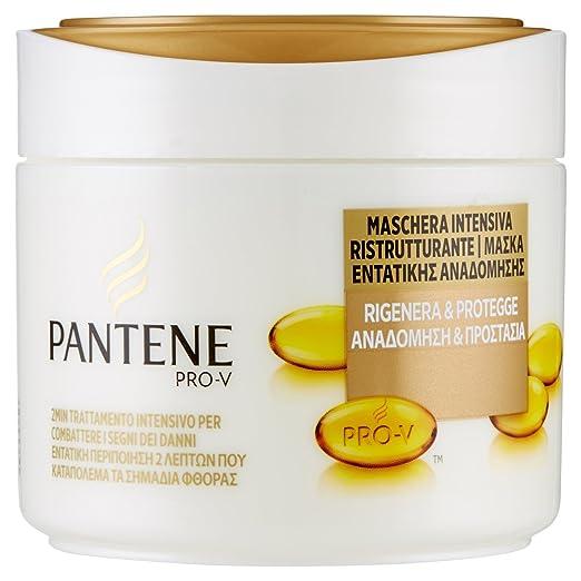 4 opinioni per PANTENE Maschera Intensiva per Capelli Rigenera e Protegge, 300 ml