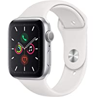 $399 » Apple Watch Series 5 (GPS, 44mm) - Silver Aluminum Case with White Sport Band