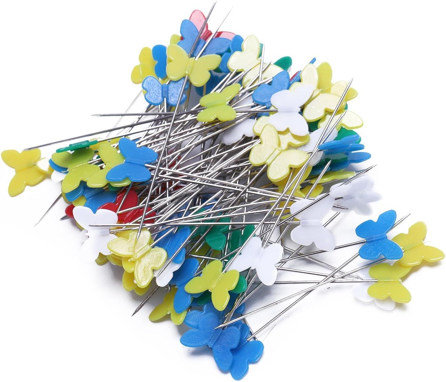 100pzs juego Alfileres de amazuela cabeza boton flor Herramienta acolchado 2W7