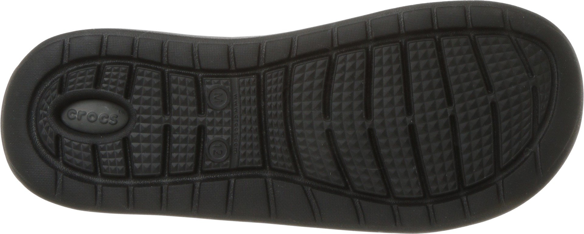 Crocs Unisex-Adults Literide Slide Sandal, Black/Slate Grey, 10 US Men/12 US Women by Crocs (Image #3)