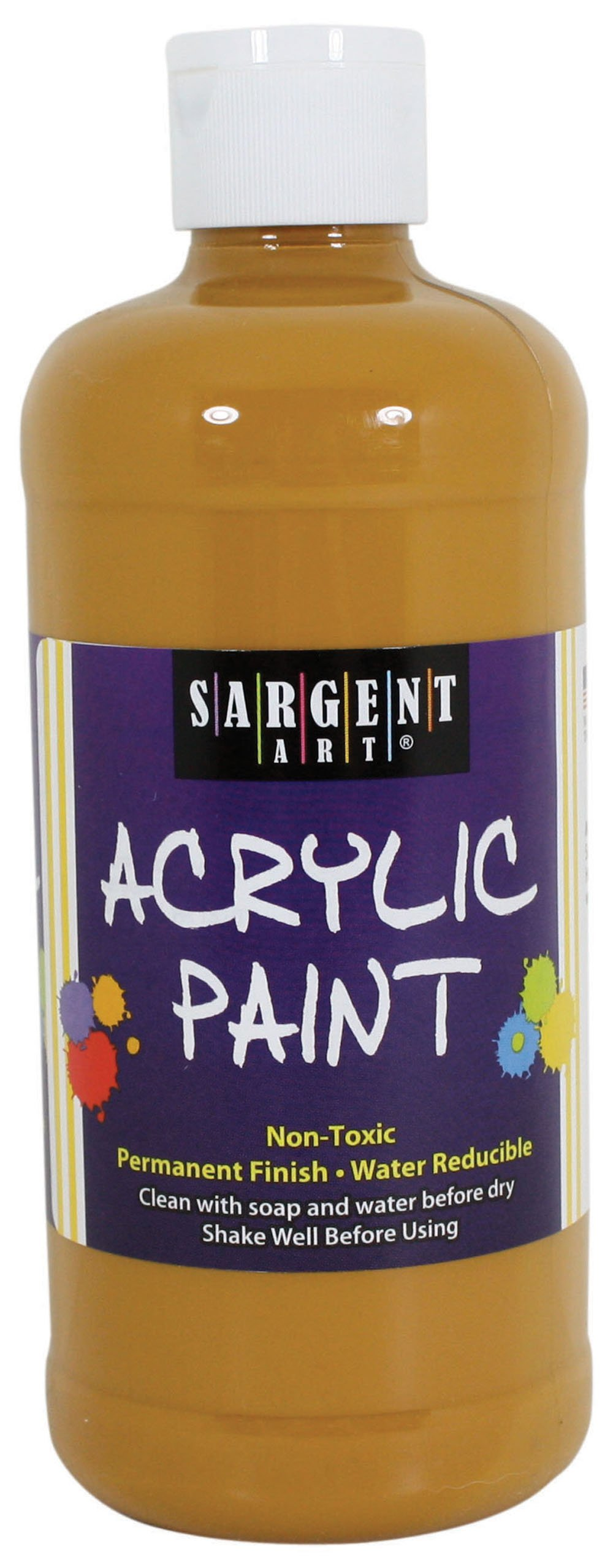 Sargent Art 24-2427 16-Ounce Acrylic Paint, Yellow-Oxide