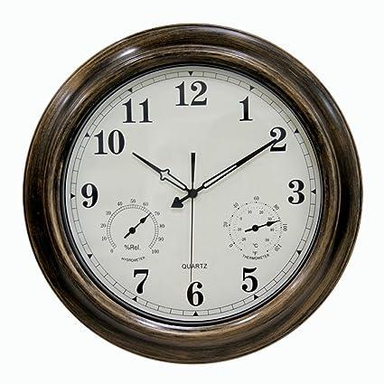 reloj de pared a Prueba de Agua de 18 Pulgadas, Ing-Never Stop Reloj