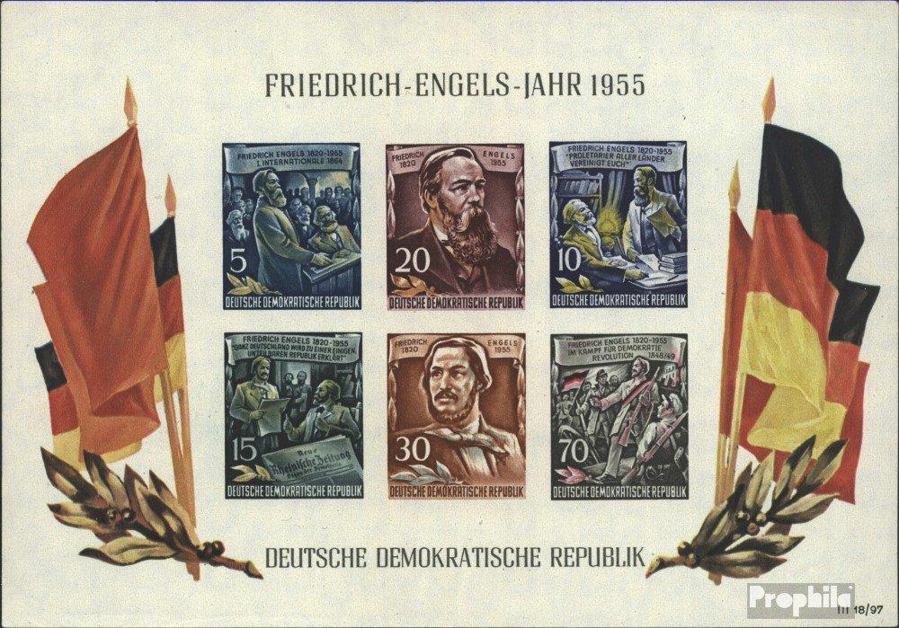 sellos para coleccionistas: DDR (RDA) Bloque 13 (completa.edición.) matasellado de primer día matasellado 1955 Federico Engels