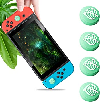Haobuy Thumb Grip Caps for Nintendo Switch & Switch Lite, Sweet Joystick Cap for Nintendo Switch & Lite Leaf Crossing, Soft Silicone Cover for Joy-con Controller Accessories: Amazon.es: Electrónica