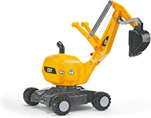 rolly toys CAT Construction Ride-On: 360-Degree Excavator/Shovel Digger, Youth Ages 3+