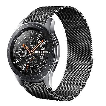Urtone Correa de Metal para Samsung Gear S3 Frontier/Classic, 22 mm, Correa de Acero Inoxidable de Repuesto para Reloj Gear S3 y Galaxy Watch de 46 mm
