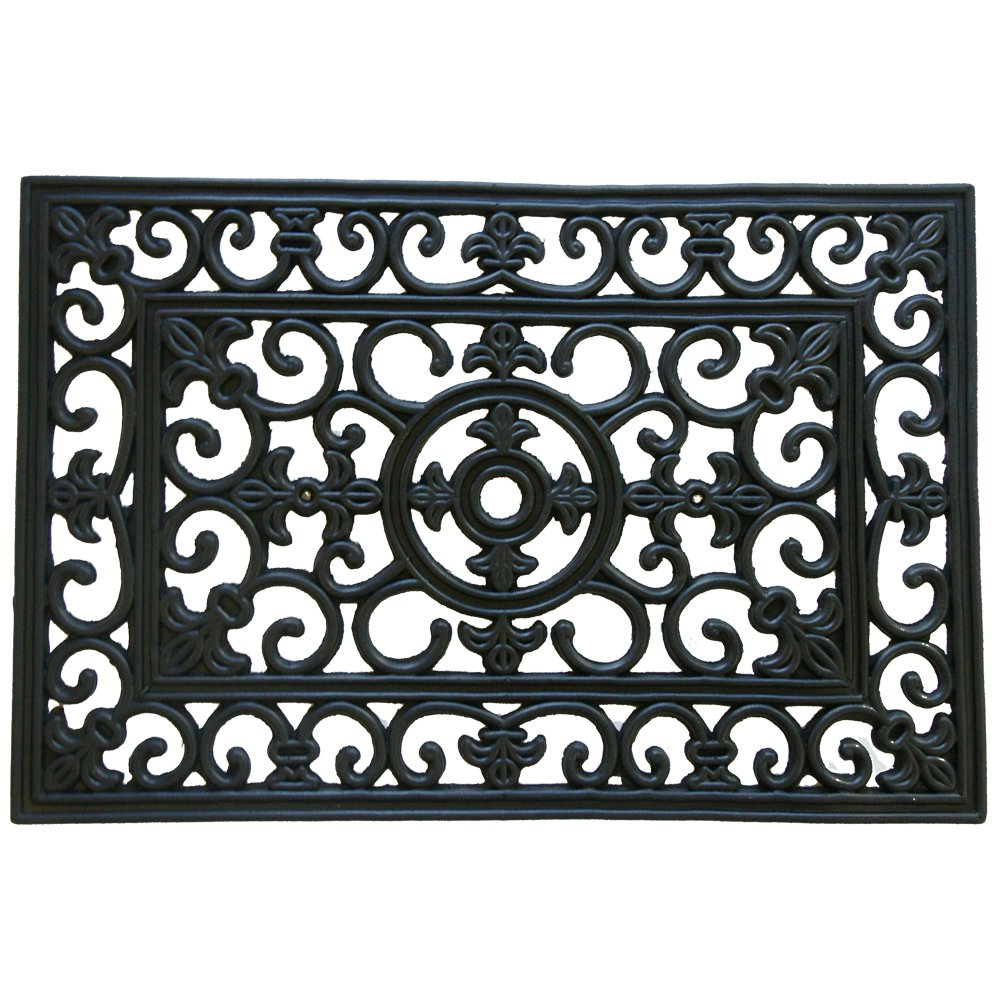 Rubber-Cal Blooming Outdoor Cast Iron Decorative Rubber Doormat, 18 by 30-Inch Inc. 10-103-511