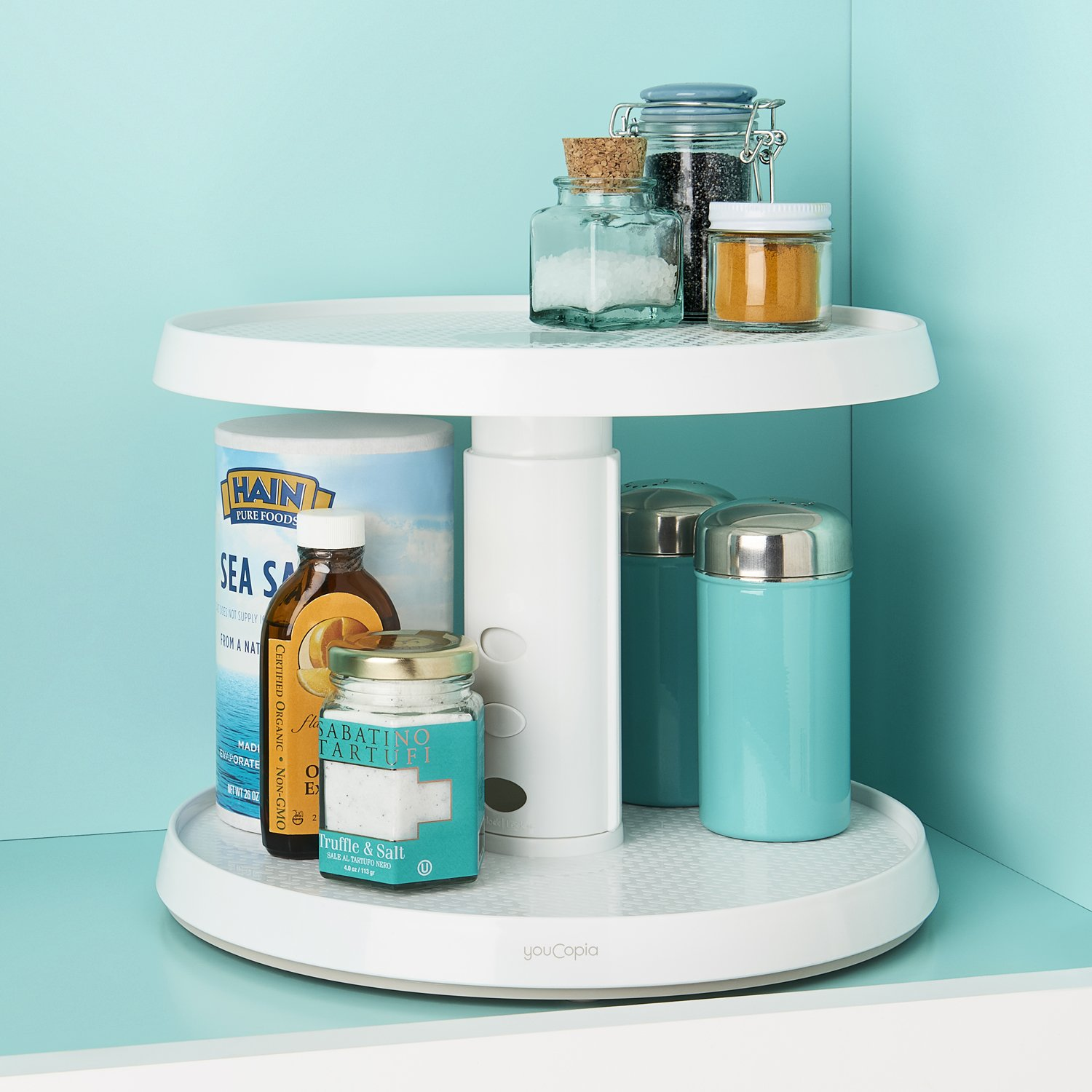 Amazon.com - YouCopia Two-Tier Crazy Susan Kitchen Cabinet Turntable ...
