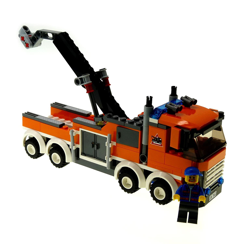 1 X Lego System Abschlepp Truck Wagen Orange Fr Set Modell 7642 Garage Auto Mit Figur Incomplete Unvollstndig Spielzeug