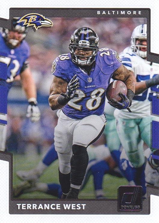 2017 Donruss Football #99 Terrance West Baltimore Ravens at ...