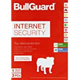 BullGuard Internet Security 2018 for all Windows PC's - With Free Automatic Latest Updates - 3 Users - 12 Month Licence