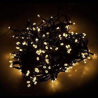 Festa Weyty Catena Luminosa Luci Batteria 2M 10LED Luce a Corda Tonde Lampadine Filo Esterno Decorazione dellalbero di Natale Stringa Luci Decorazioni Natalizie Casa per Giardino