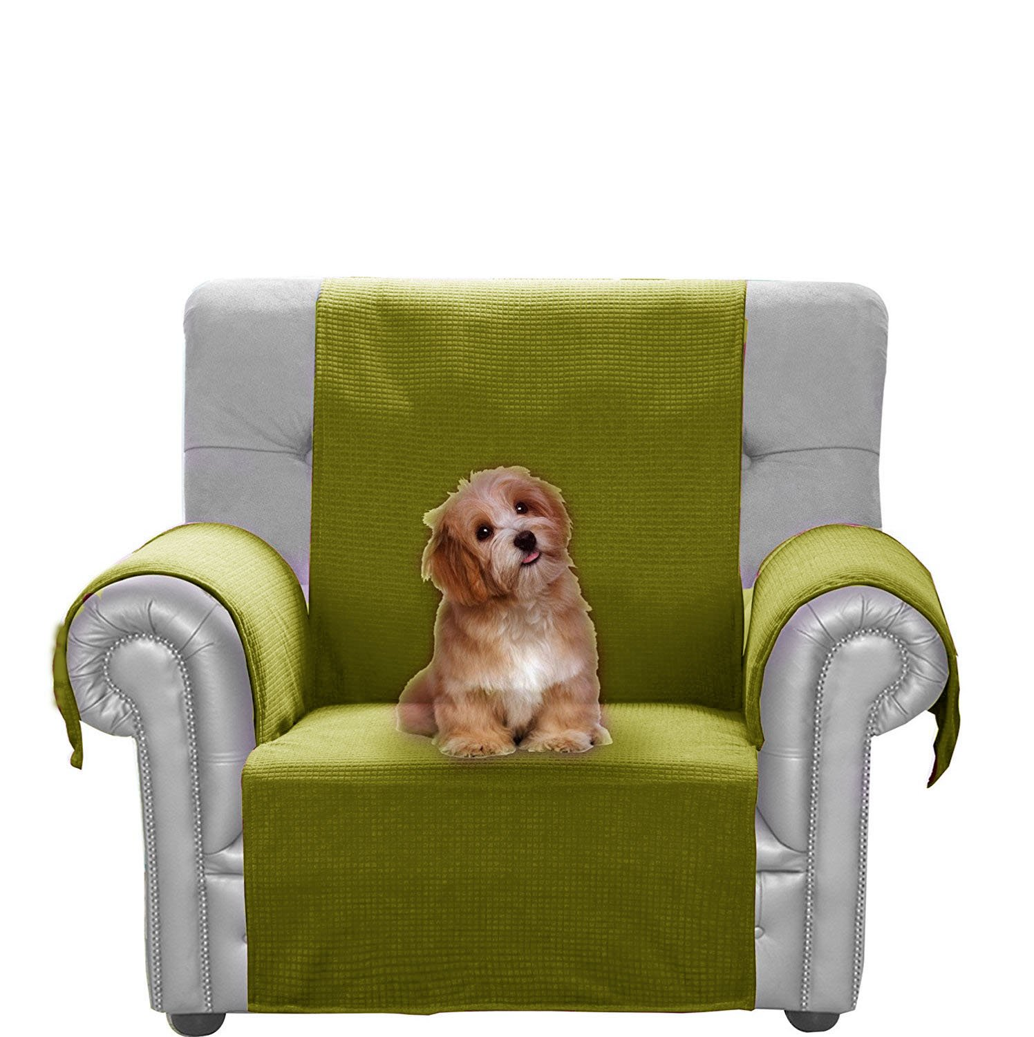 JIATER Improved Non-Slip Pet Dog Sofa Chair Slipcovers Living Room Couch Covers Furniture Protectors (Black, Chair) JIATER HOUSEHOLD