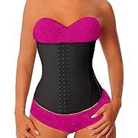 YIANNA Kvinnor latex sport midjetränare korsett lång överkroppsformare cincher för viktminskning