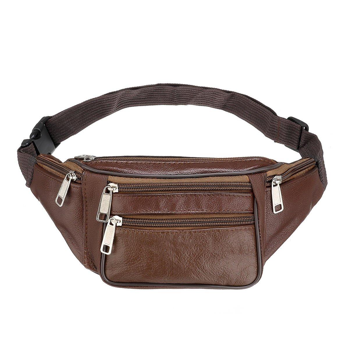 Athletics Waistline Suitcase - Outdoor Leather Waist Bag Zipper Chest Sport Handbag Shoulder - Lark Sportswoman Purse Cavort Base Rollick Grip Boast Udder Play Pocket Mutation Cup - 1PCs