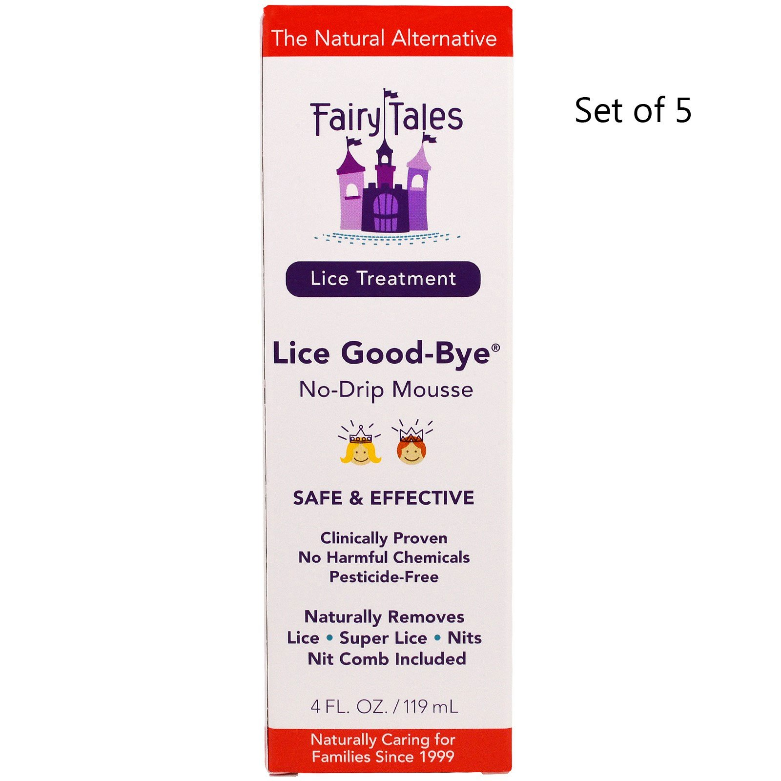 Fairy Tales Lice Good-Bye Nit Removal System w/ Comb 1 kit (Pack of 5)