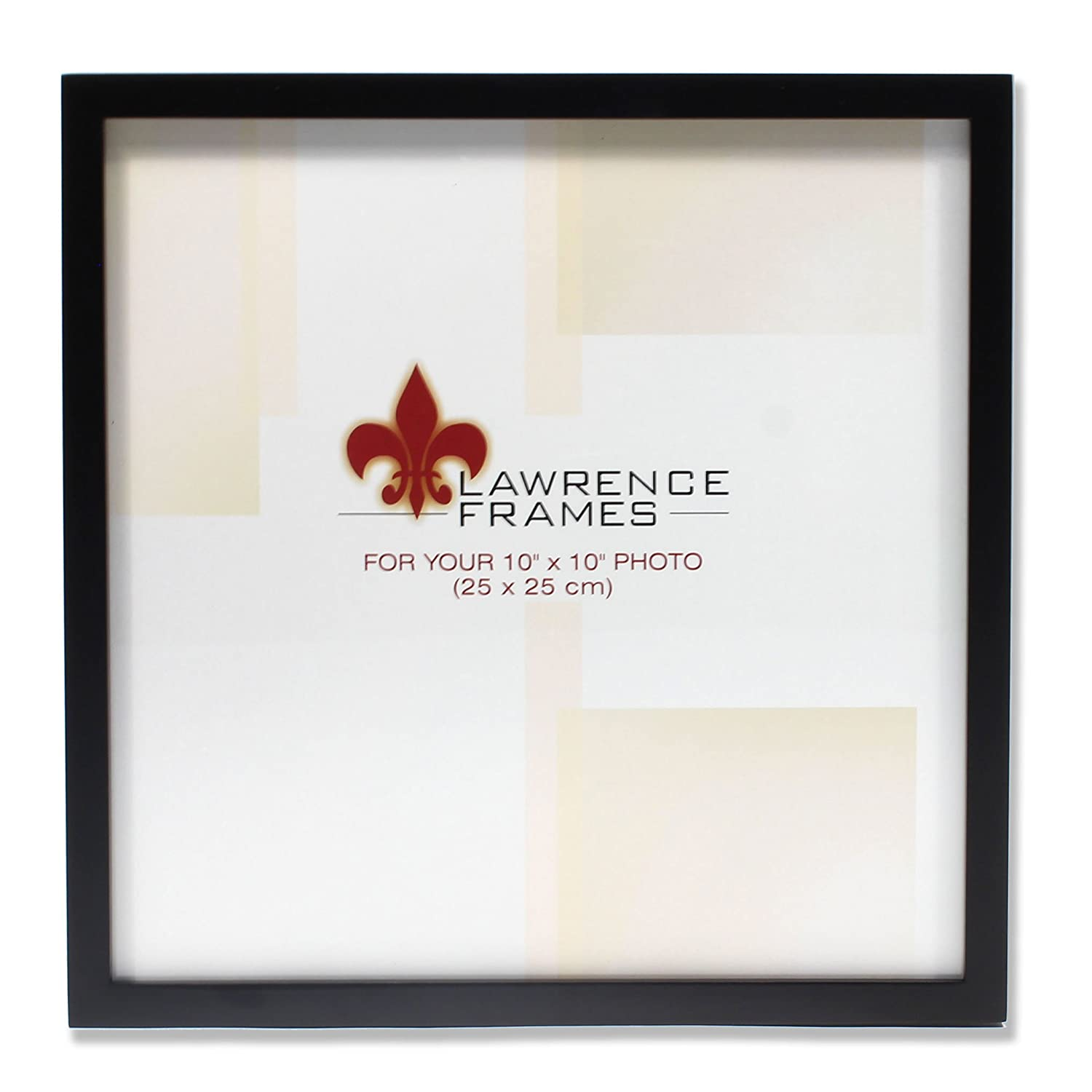Amazon.com - Lawrence Frames 755510 Black Wood Picture Frame, 10 by ...