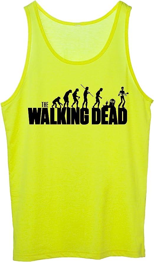 fashwork Tirantes Walking Dead Evolution – Virus epidemia apocalisse- Evolución Zombie – -De Algodón by, Amarillo: Amazon.es: Deportes y aire libre