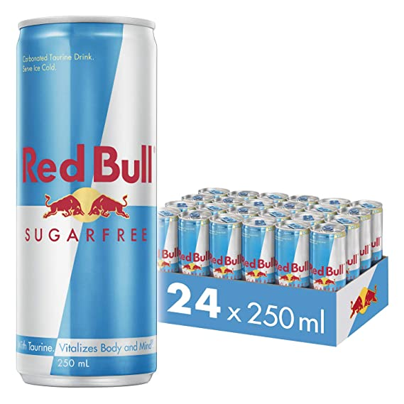 826a17843c3b6 Image Unavailable. Image not available for. Colour  Red Bull Energy Drink Sugar  Free 24 ...