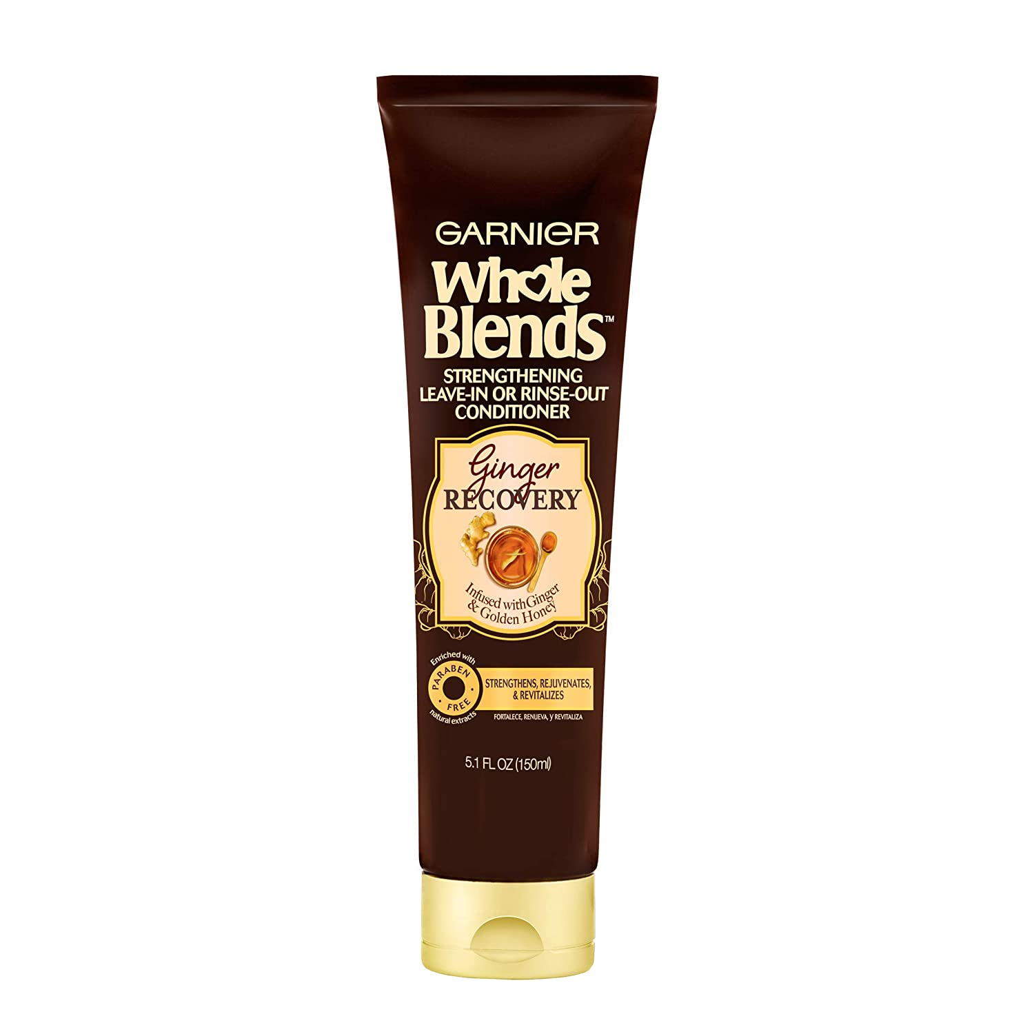 Garnier Hair Care Whole Blends Ginger Recovery Leave-in or Rinse-out Treatment, 5.1 Fl Oz