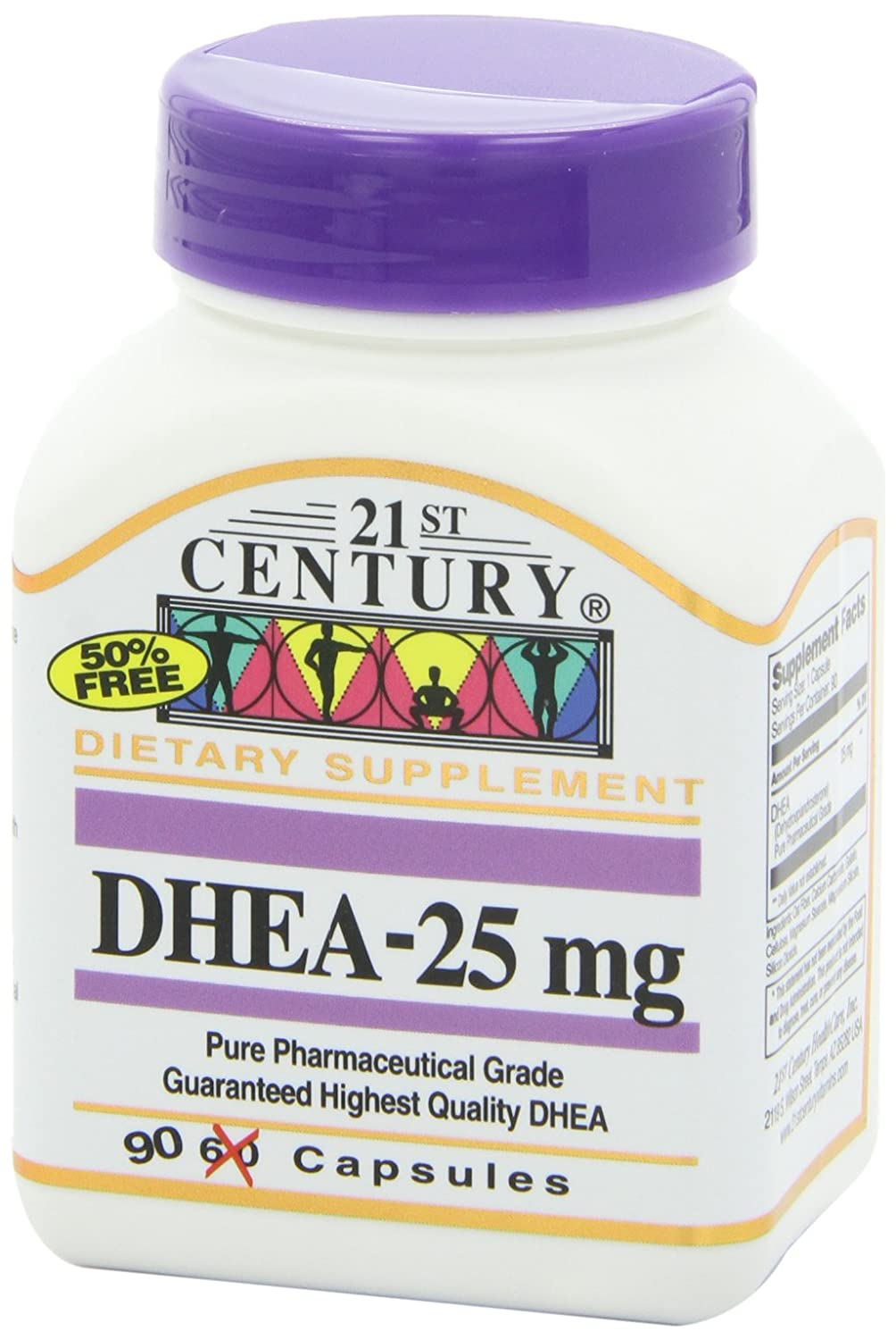 Amazon.com: 21st Century DHEA 25 mg Capsules, 90 Count: Health & Personal Care