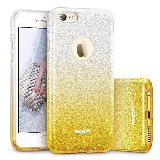 674 opinioni per ESR iPhone 6/6s Cover con Brillantini/Glitters, Custodia Brillante Lucciante