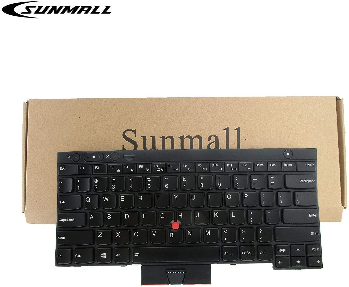 SUNMALL Keyboard Replacement with Pointer and Backlit, Compatible with Lenovo IBM ThinkPad T430 T430S T430I X230 X230T X230I T530 W530 Laptop (Not Fit T430U X230S)