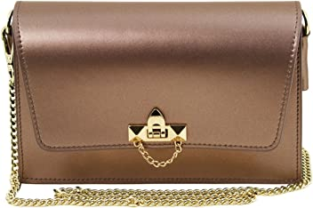 Tuscany Leather TL Bag Metallic leather clutch with chain strap Leather  handbags 5499f236937bf