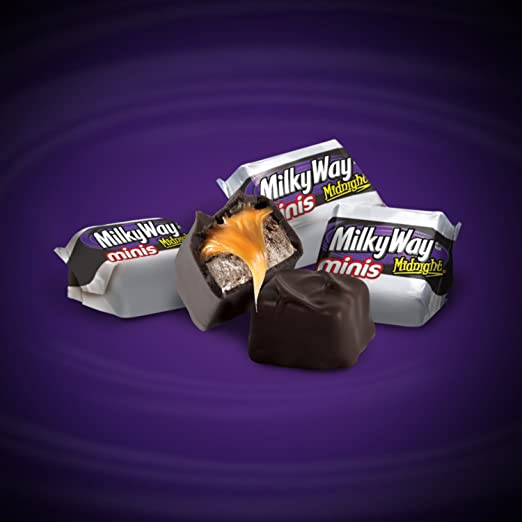 Amazon.com : MILKY WAY Midnight Dark Chocolate Minis Size Candy Bars 10.5-Ounce Bag (Pack of 4) : Candy And Chocolate Bars : Grocery & Gourmet Food