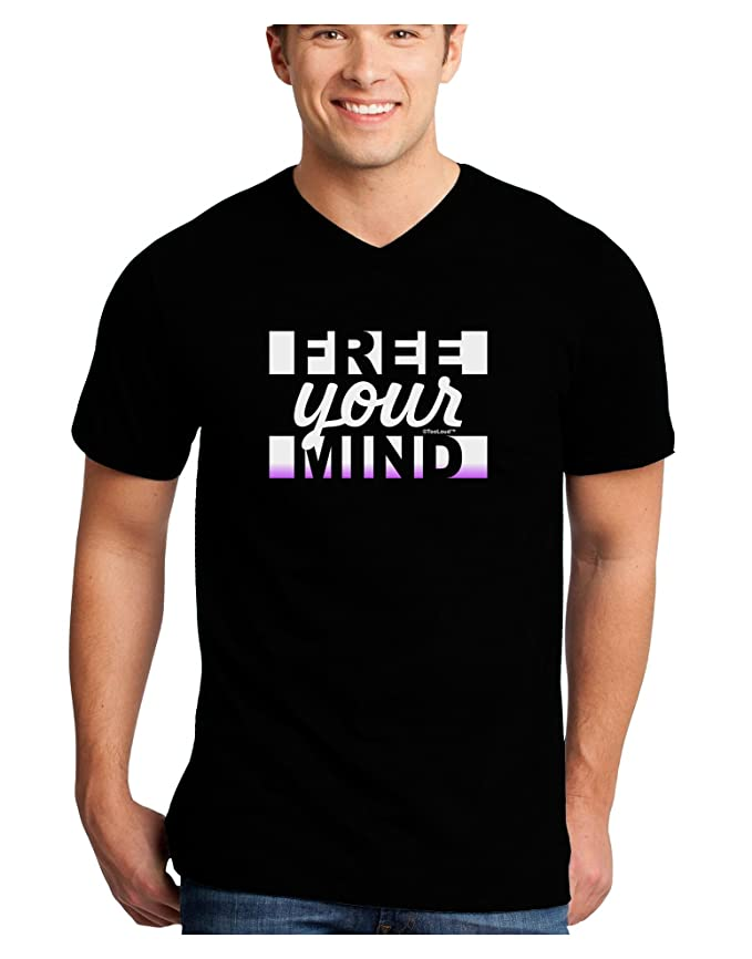 TooLoud Free Your Mind Text Infant T-Shirt Dark