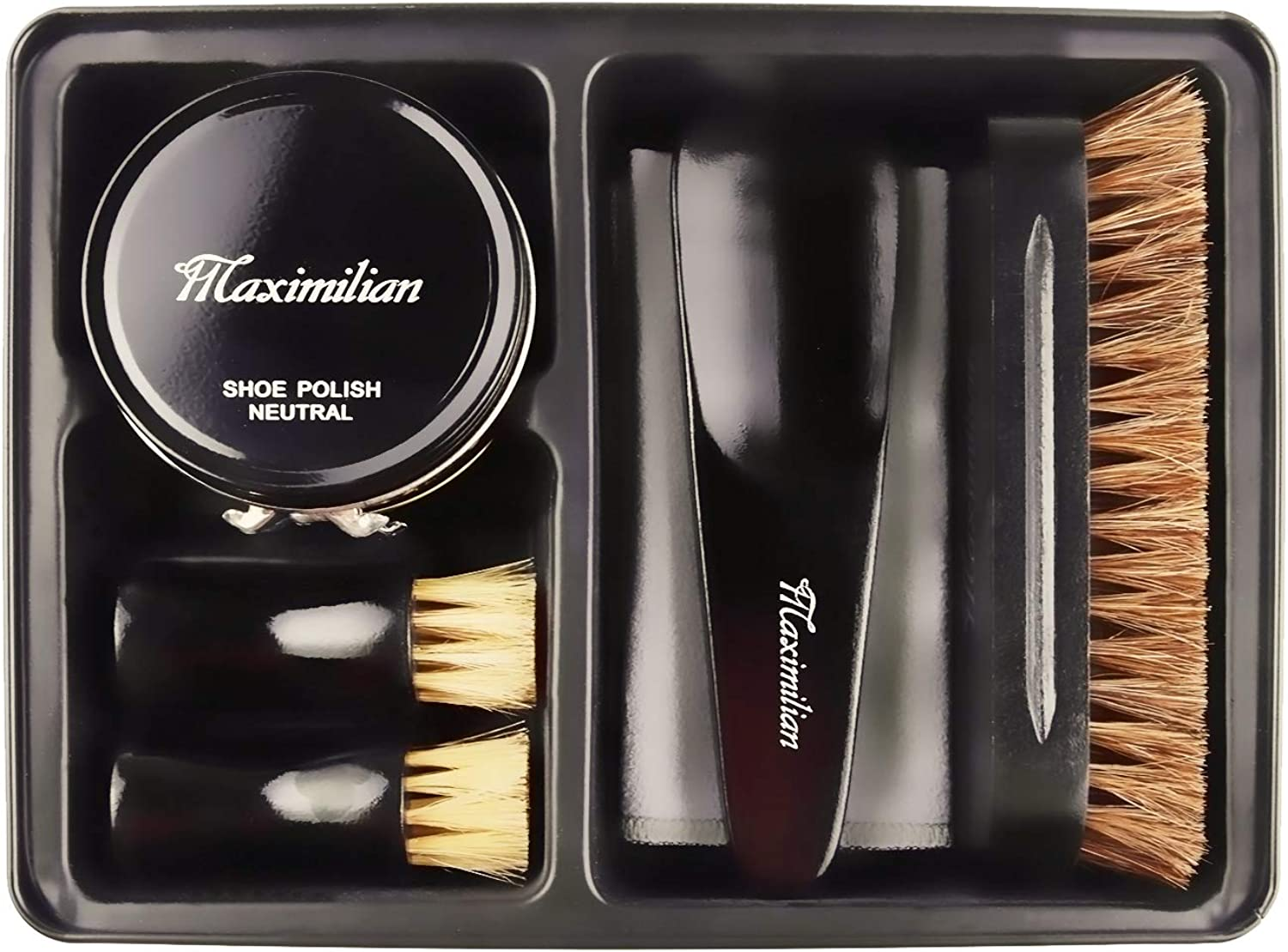 Deluxe Business Leather Shoe Polish Kit & Shoe Shine Kit for Men and Women
