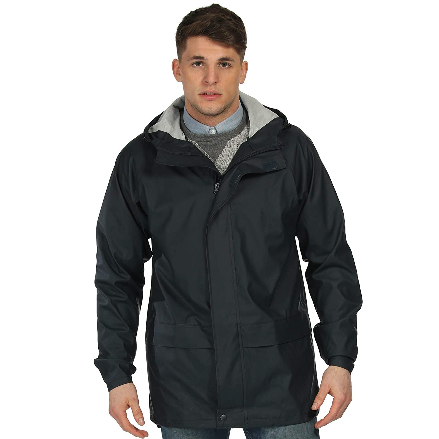 TALLA L. Regatta Water and Windproof Storm Flex Chaqueta, Hombre