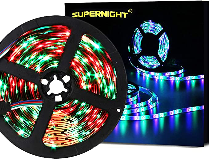 Details about  /Multi-color Strip Lights RGB Room Lights 3528 Led Tape Lights Color b 01 s c 80