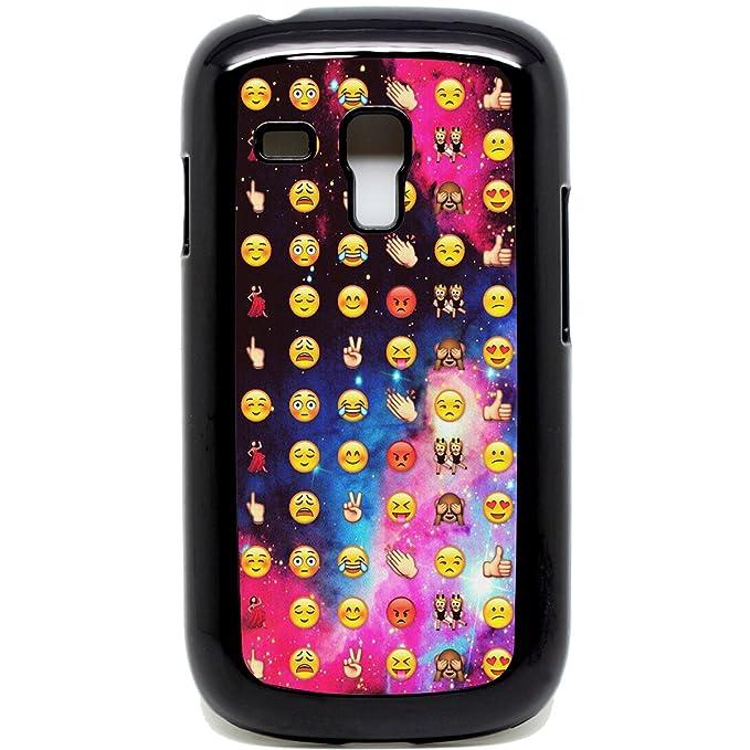 Amazon.com: Galaxy S3 Mini Phone case Emoji faces funky cool ...
