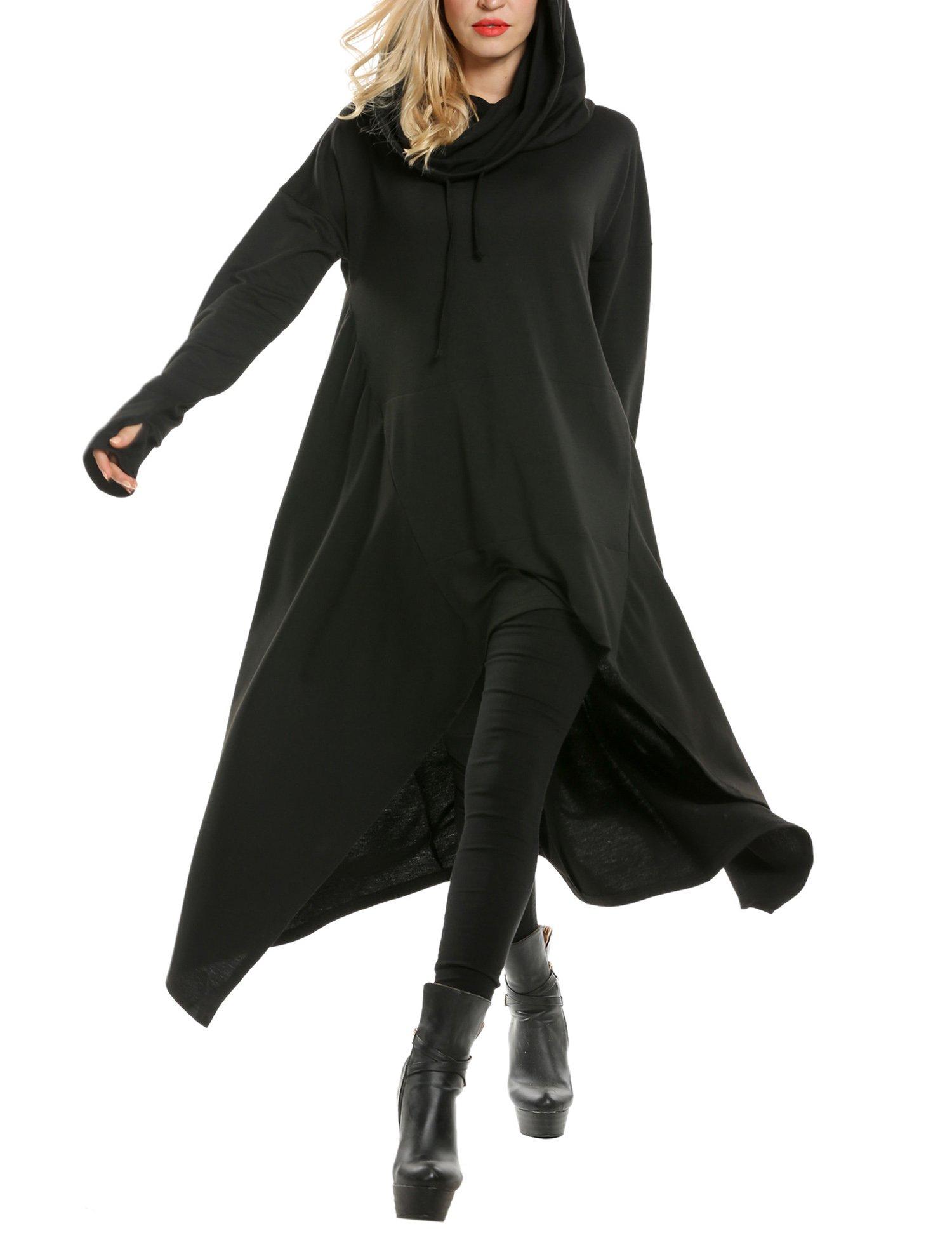 Zeagoo Women's High Low String Hoodie Tunic Sweatshirts with Pocket