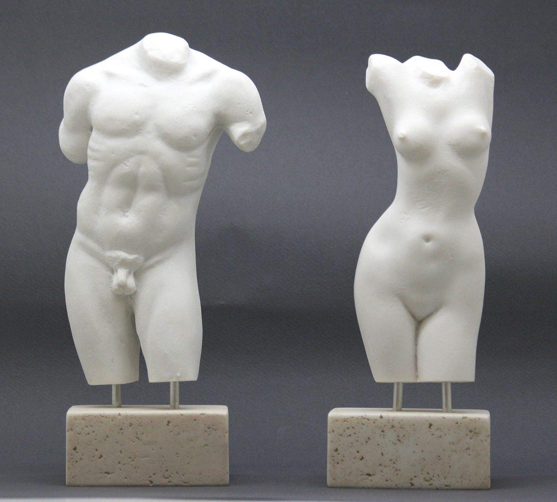 Amazon.com: Set Female & Male Body Torso Erotic Nude Art Sexy Greek Statue  Sculpture: Home & Kitchen