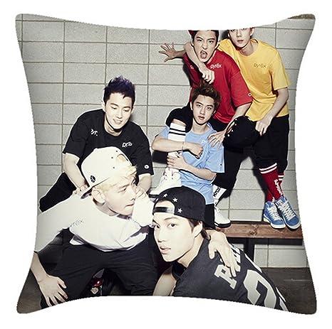 EXO lobo Exo K M manta almohada cuadrado almohada: Amazon.es ...