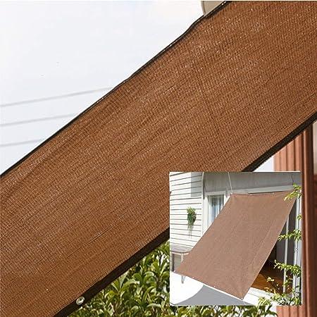 ZAQI Toldo Vela 85% Paño De Sombra Marrón para Jardín Planta Patio Invernadero Tejido de Toldo de Sombra Resistente al Aire Libre con Ojales (Size : 1×4m): Amazon.es: Hogar