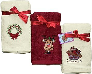 Decorativo - Juego de toalla de mano - 3 piezas Set de regalo - de la