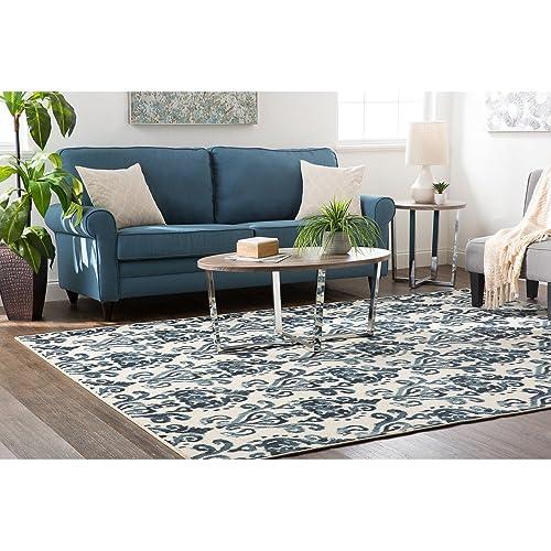 Mohawk Home Soho Bali Ikat Printed Area Rug, 5 x8 , Denim Blue