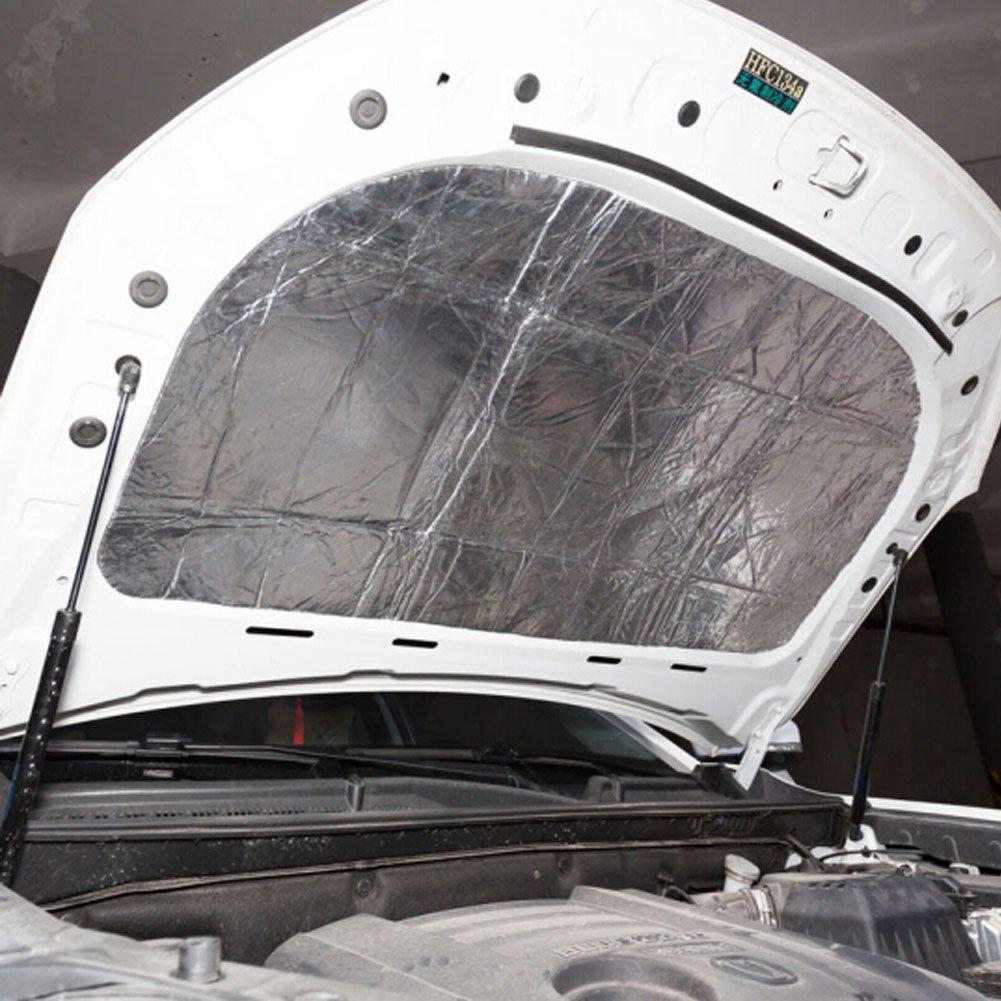 GOGOLO Self Adhesive Aluminized 39.4' x 47.2' Automotive Engine Heat Noise Redcution Absorb Shield Pad Cotton, Perfect for Engine Cover, Hot Rod, Panel,etc 2FAYWGI11075ANO6F35LJE1P
