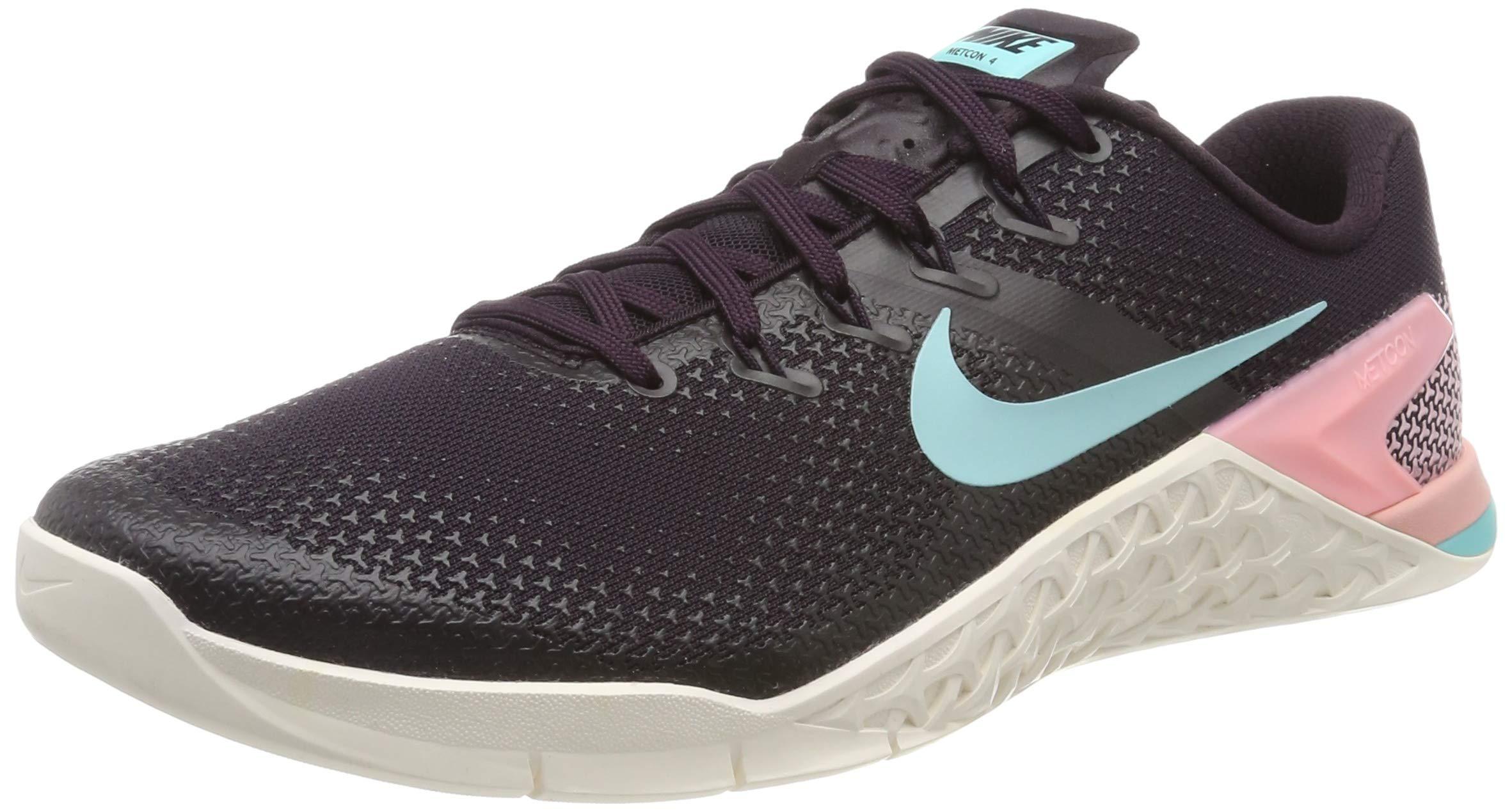 Nike Women's Metcon 4 Training Shoe Burgundy ASH/Aurora Green-SAIL-Pink Tint 5.5