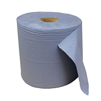 AllTrade Direct Jumbo - 1 Rollo de Toalla de Papel para Secado de Manos, Muy Resistente, Doble Capa, 380 m, Color Azul: Amazon.es: Coche y moto