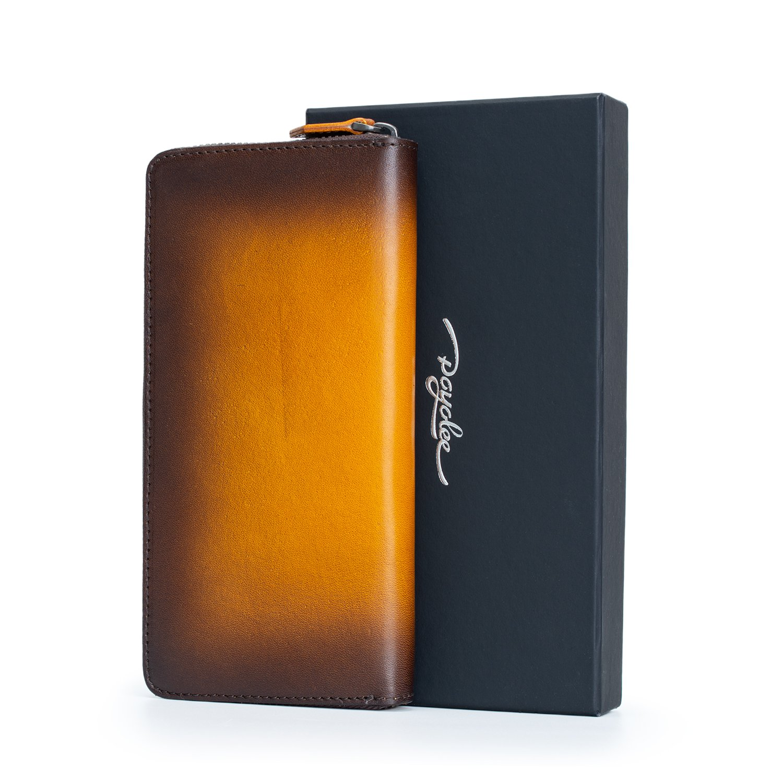 1b6fcfa7794f 【大容量】カードホルダー×12 お札入れ×2 フリーポケット×2 チャックの小銭入れ×1 大容量の長財布がお札、カード、レシート、コインなどたくさん収納できて、とても  ...