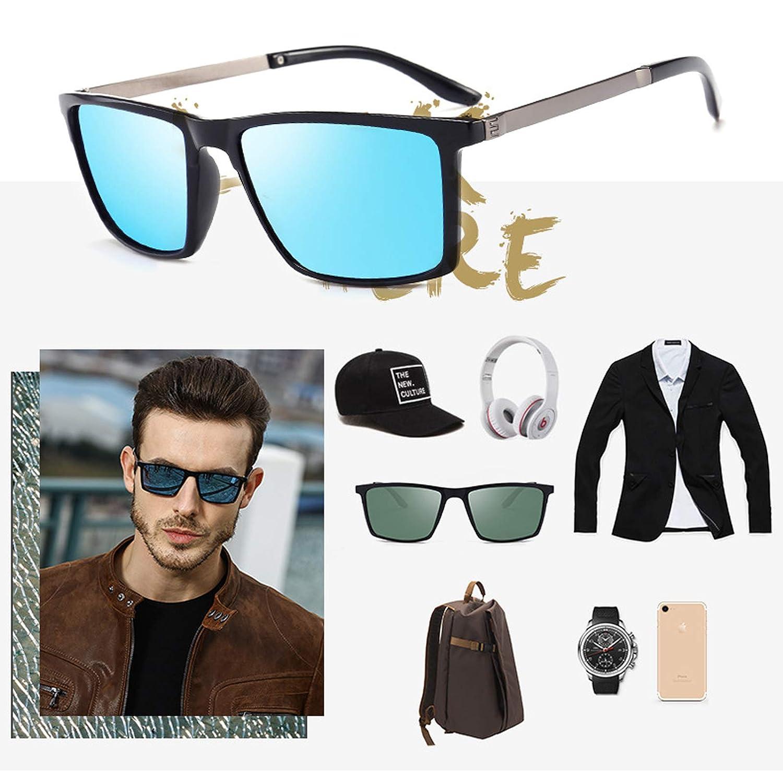 Blisfille Gafas de Sol de Hombres Polarizado Lente Espejo Completa con Protección UV400,Gafas de Sol de conducción polarizada para Hombres,con Estructura ...